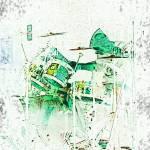 """Neon Drummer"" by mfmarsphoto"