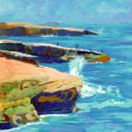 """Point Loma, Sunset Cliffs by RD Riccoboni"" by BeaconArtWorksCorporation"