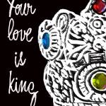 """LOVE IS KING - BEJEWELED CROWN"" by lisaweedn"