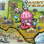 """Austin TEXAS Map"" by FunGraphix"