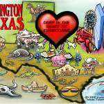 """Arlington TEXAS Map"" by FunGraphix"