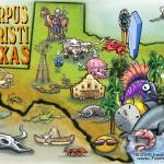 """Corpus Christi TEXAS Map copy"" by FunGraphix"