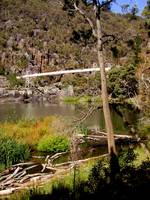 The Swinging  Bridge-The First  Basin -Launceston-