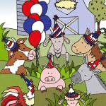 """Americana Country Life Party"" by SherryHolderHunt"