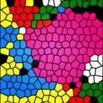 """Mosaic Flowering Garden"" by keithcowleyart"