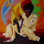 """Jimi Hendrix"" by anthonydunphy"