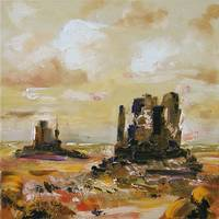 Monument Valley Oil Painting by Ginette Callaway