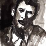 """Man - Ink & Watercolor Wash Original by Ginette"" by GinetteCallaway"
