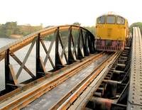 Train on Bridge over River Kwai