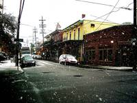 Snow in New Orleans, Frenchmen St.*