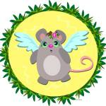 """Angel Mouse in Tropical Frame"" by theblueplanet"