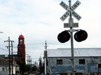 Railroad Crossing in the Marigny, New Orleans *
