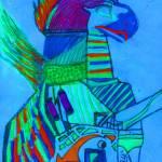 """""""Mythological Sun God Hyper color"""" by MPMPatrick"""
