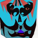 """""""blue mask, theatrical"""" by MPMPatrick"""