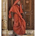 """Hindu monk at a temple in Bhuj, Gujarat"" by Ffotolady"