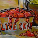 """bucket of crabs"" by artbypatti"