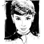 """Audrey Hepburn"" by tBaneArt"