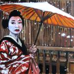 """Geisha in the snow"" by philgoodrich"