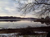 Peaceful Winter Loch Scotland.