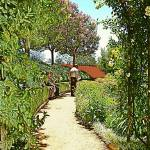 """A path at the Getty gardens"" by Corbett"