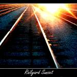 """railyard sunset digital art"" by saddogshirts"