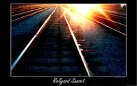 railyard sunset digital art