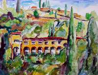 Italian VILLA in The Hills Painting by Ginette
