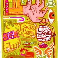 Walking hand foot belt Art Prints & Posters by Ian Nagy