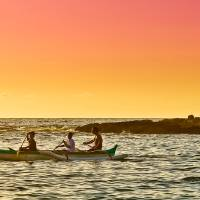 Hawaiian Canoeing Art Prints & Posters by Chester Manuel