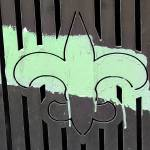 """Fleur de Lis with Painted Brush Stroke"" by alexbalcer"