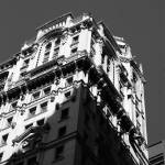 """Downtown Highrise in Black and White, Manhattan NY"" by alexbalcer"