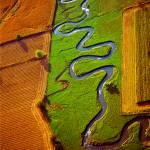 """Aerial Farm Stream"" by TomJelen"