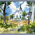 """Mendocino Church"" by tilstra"