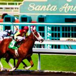 """Santa Anita Parkway Finishing Post No2"" by johncorney"
