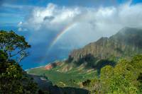 Rainbow at Kalalau Valley