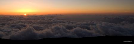 Sunset Over an Ocean of Clouds
