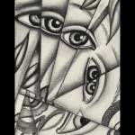 """FRACTIONAL-EYES-THICK BORDER 1A-7X10"" by georjana"