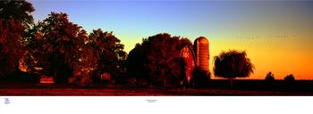 Huntley Road Barn Fall Sunrise