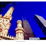 """Water Tower Place and skyline Chicago"" by TomJelen"