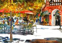 Spencer Place, Watercolor Painting Art