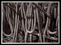 USS Constitution - Ropes for the Rigging BW 2