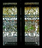 Antique Lead Glass Doors