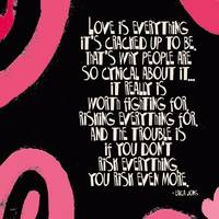 LOVE IS EVERYTHING - PINK & BLACK SWIRL - ERICA JO