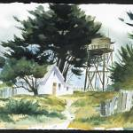 """Mendocino Watertower"" by tilstra"