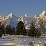 """Teton Range in the Winter"" by SamSherman"