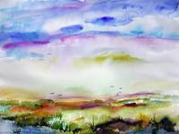 Morning on Jekyll Island Watercolor by Ginette Cal