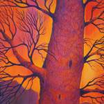 """Tree in the Sunset"" by Sushila_Oliphant"