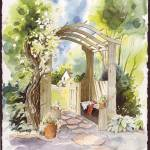 """Cottage Garden Gate"" by tilstra"