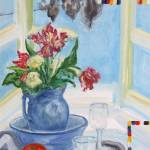 """Still life with tulips"" by JHSvisualartist"