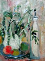 Fennel & OLIVE oil Impressionist Still Life Ginett